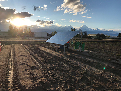 Nitricity's device with solar panel in agricultural field