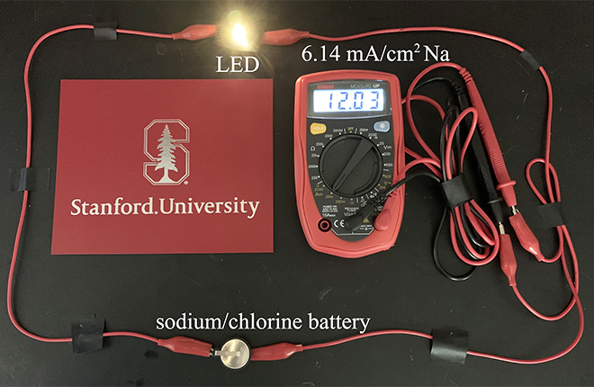 battery, light, voltmeter and wires