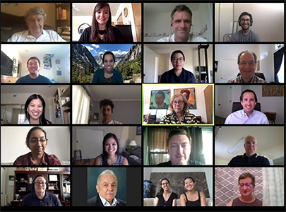 Zoom call with 2020 cohort and mentors