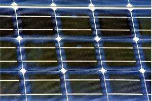 Photo: Close-up of solar modules. Credit: NREL