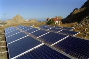 Applied Power photovoltaic panels at Farallon National Wildlife Refuge
