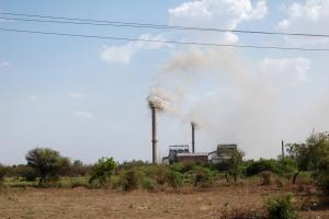 Coal-fired power plant in rural India.