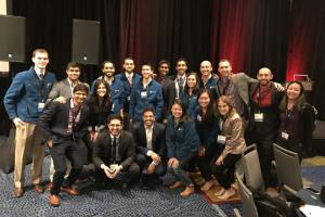 Stanford Energy Club members at the 2017 MIT Energy Conference.