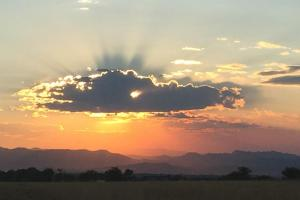 Sunset on the Front Range of Colorado in summer.