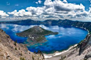 Stanford researchers detail a new method for locating lithium in lake deposits from ancient supervolcanoes, which appear as large holes in the ground that often fill with water to form a lake, such as Crater Lake in Oregon, pictured here.