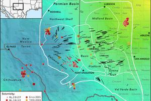 This new map of Earth's stress field in the Permian Basin of West Texas and southeastern New Mexico could help energy companies avoid causing earthquakes associated with oil extraction.