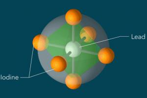 Iodine atoms, which surround lead atoms in a perovskite solar cell material, respond to light in a surprising manner.