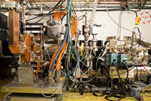 The experimental station for ultrafast electron diffraction (UED) at SLAC.