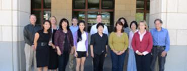 Group photo of Precourt Institute staff in front of Y2E2