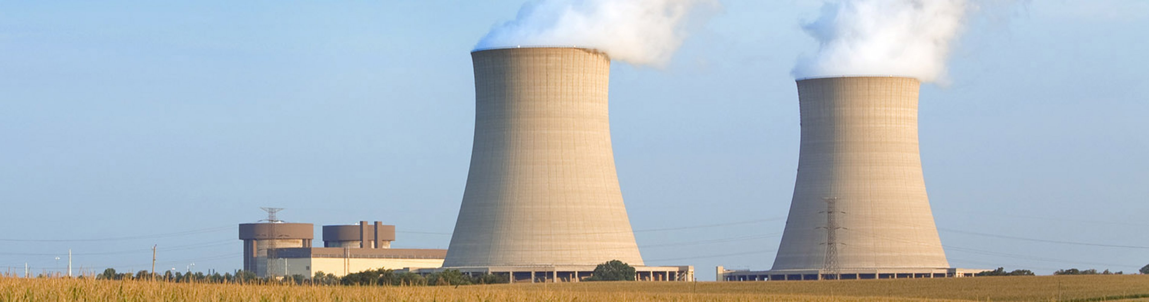 cooling towers at a nuclear plant in the midwest