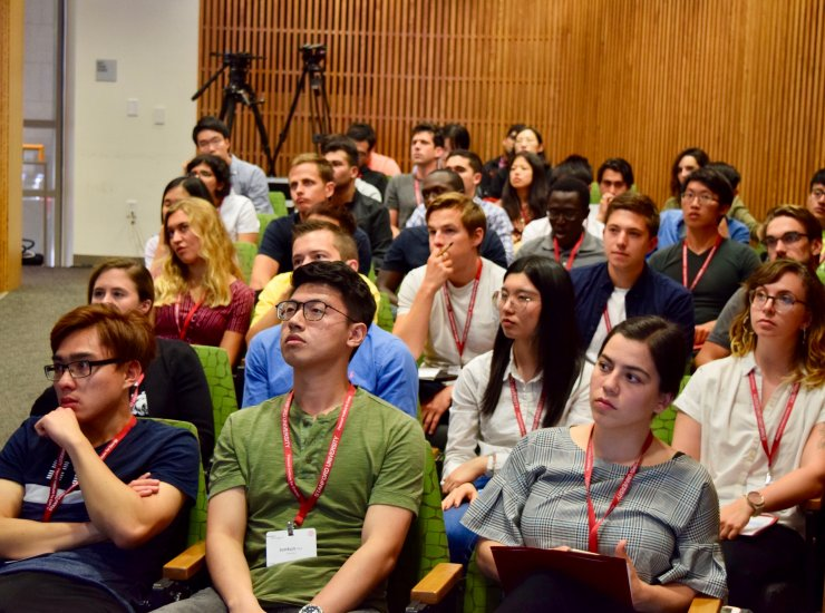 Energy@Stanford & SLAC cohort sitting in auditorium