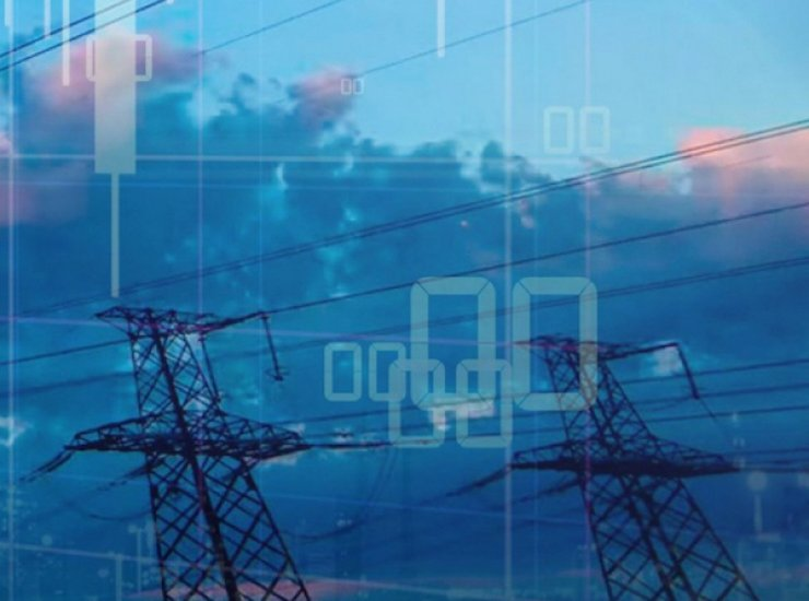 Transmission towers with digital overlay
