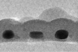 Cross-section of record-thin absorber layer