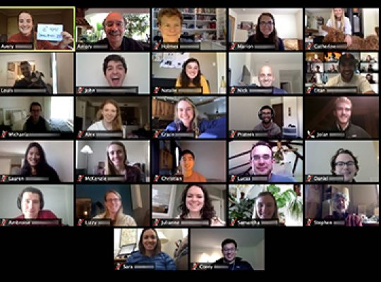 The 2020 Extreme Energy Efficiency class takes a portrait on Zoom
