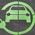 Graphic of electric car with cable circling the car