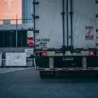 White freight truck on road
