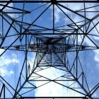 Close of transmission tower