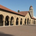 Stanford main quad with Hoover tower in the background