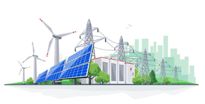 Distributed energy resources and power lines