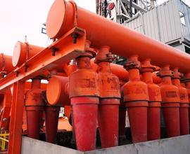 Red natural gas pipes