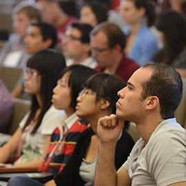 Graduate students listening to talk during Energy@Stanford & SLAC 2013