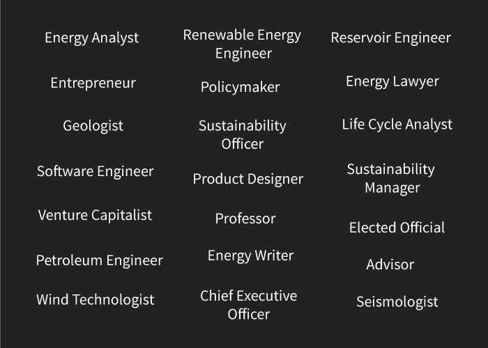 List of career titles in energy