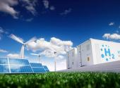 solar panels, windmills and hydrogen-based energy storage