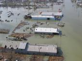 Venice,La., with at least two to three feet of water two weeks after Hurricane Katrina, Sept. 12, 2005.