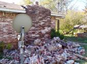 A magnitude 5.6 earthquake likely induced by injection into deep disposal wells in the Wilzetta North field caused house damage in central Oklahoma on Nov. 6, 2011.